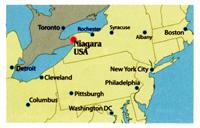 Two RV Gypsies At Niagara Falls USA And Canada - Us map with niagara falls