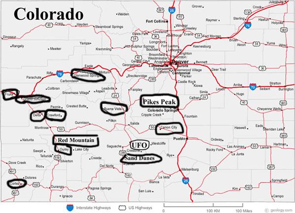 Ian Phennas Colorado - Map of colorado cities