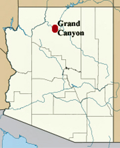 Two RV Gypsies At The Grand Canyon - Grand canyon location on us map