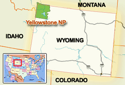 Map Of America Yellowstone National Park.The Two Rv Gypsies At Yellowstone National Park