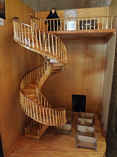 The two rv gypsies went to the spiral staircase in santa fe for Two story spiral staircase