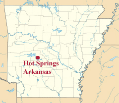 The Two RV Gypsies In Hot Springs Arkansas - Arkansas location usa map