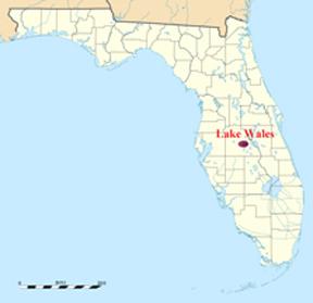 florida map showing lake wales