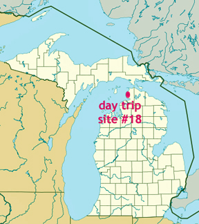 map of michigan showing location of the tunnel of trees