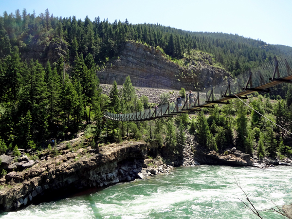 Opinion the pics of swinging bridge in montana