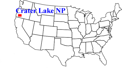 Usa Map Showing Approximate Location Of Crater Lake