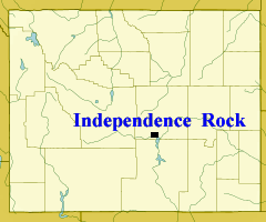The Two RV Gypsies At Independence Rock In Wyoming - Us map independence