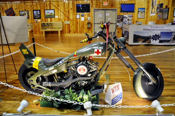 An Army motorcyle which could be won by someone