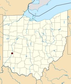 Dayton Ohio Us Map Globalinterco - Map of ohio us