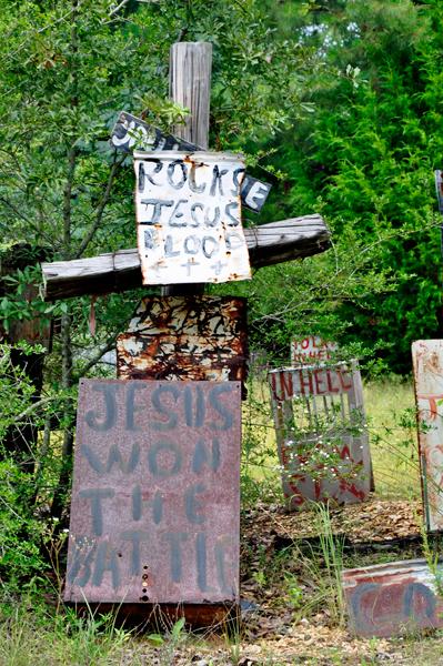 The Cross Garden Hell 39 S Warning Label