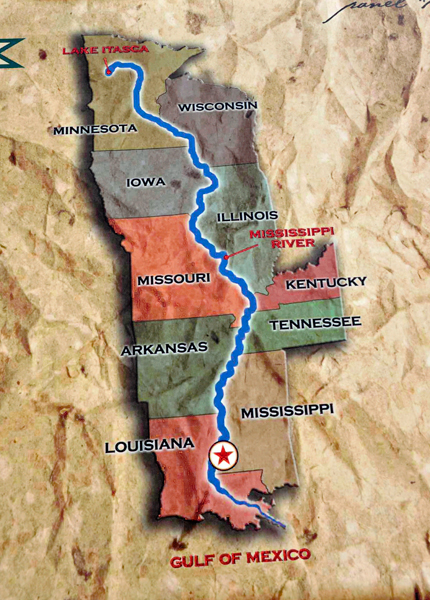 An Exact Scale Model Of The Lower Mississippi River