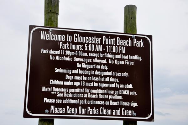 Gloucester Point Beach Park In Virginia