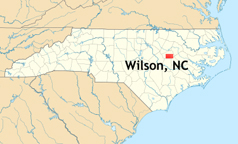 The Two RV Gypsies In Wilson North Carolina - North carolina on usa map