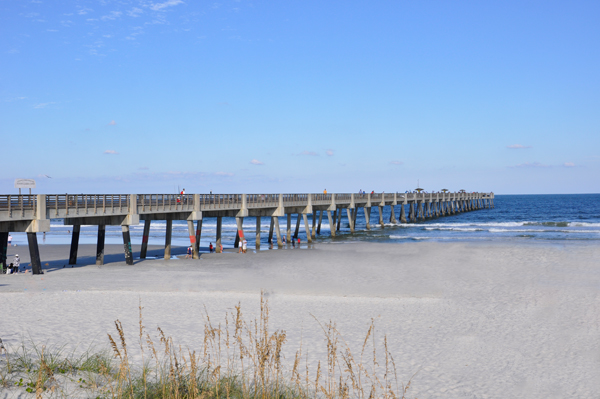The two rv gypsies at jacksonville beach florida for Jacksonville fishing pier