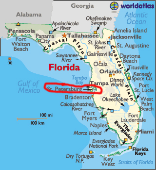 St Petersburg Florida Map.The Two Rv Gypsies Visited Cousins In Madeira Beach Florida