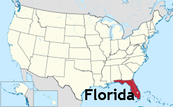 Usa Map Showing Location Of Florida