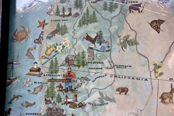 Trees Of Mystery And Paul Bunyan - Paul bunyan in us map