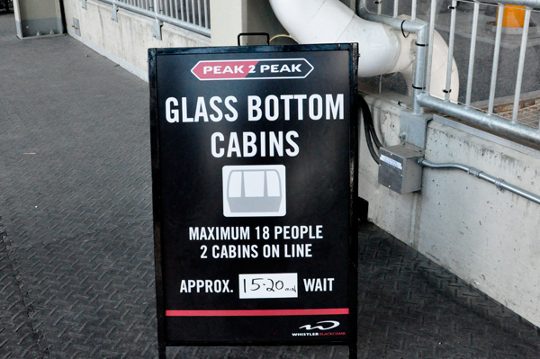 sign: glass bottom cabins