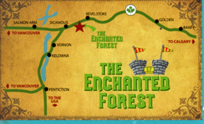Map Showing Location Of The Enchanted Forest