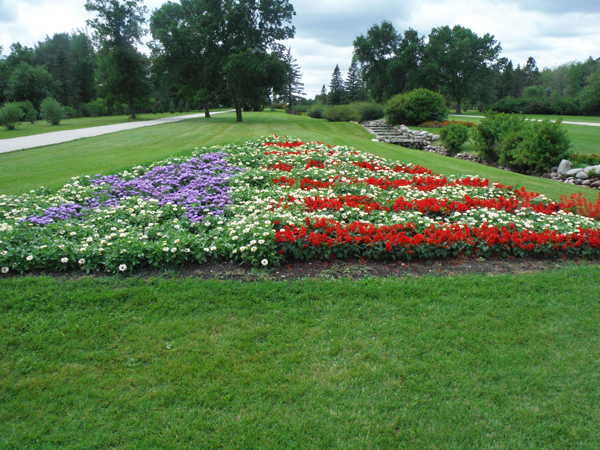 International Peace Garden in North Dakota and Canada