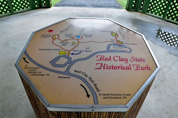 Red clay state historical park in tennessee map of red clay state historical park publicscrutiny Image collections