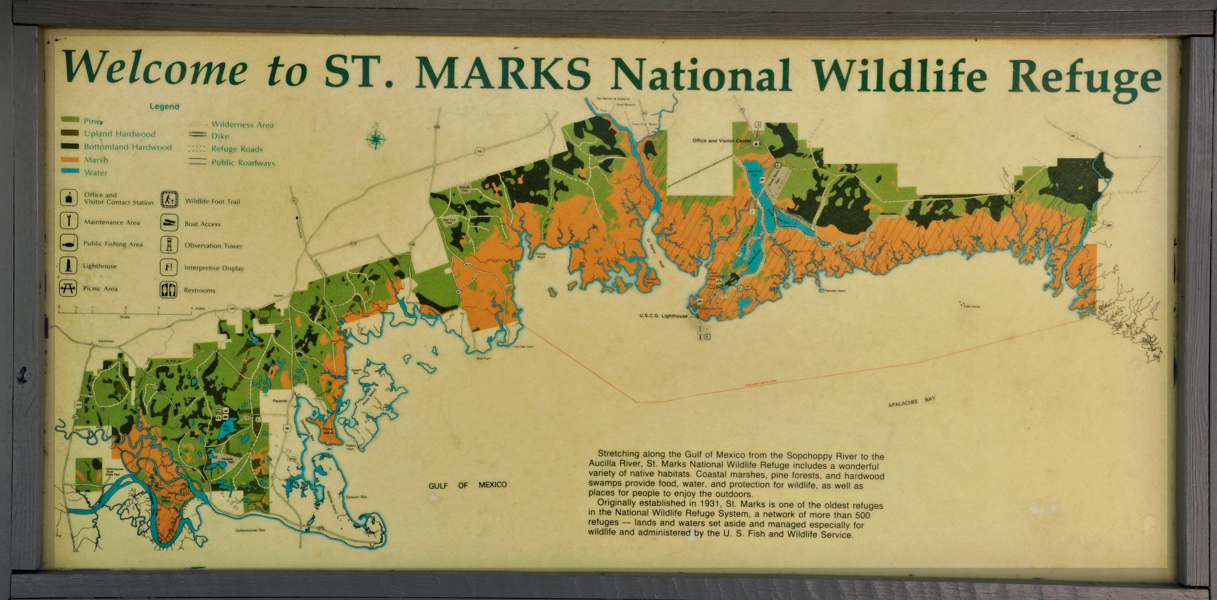 St Marks National Wildlife Refuge Lighthouse In Florida - Map of us and wildlife preserves