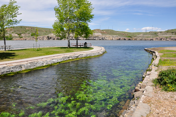 Giant Springs State Park In Great Falls Montana