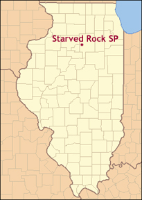 Time Zones Map: Starved Rock Illinois Map