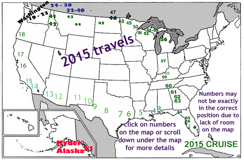 travels of the two RV Gypsies in 2015