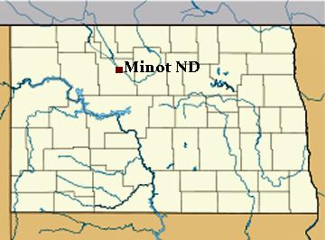 Minot Riverwalk and park Minot North Dakota
